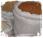 Bulk Burlap Bags of Rice and Beans