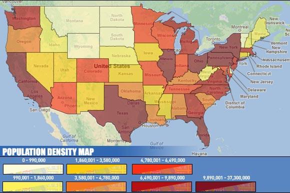 U.S. Population Map