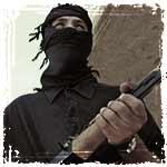 terrorist holding AK47