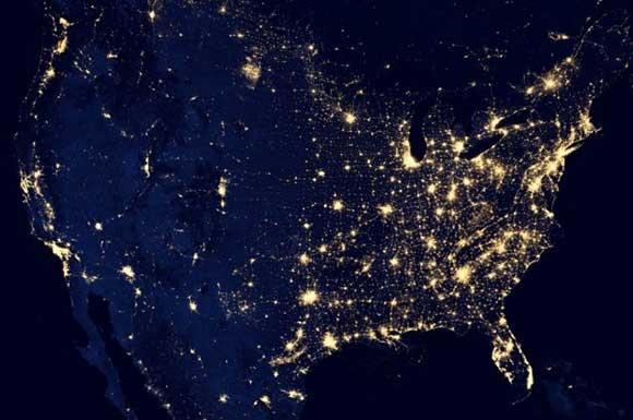 USA Night Map