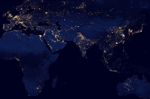 Population Density Satellite Imagery