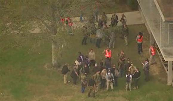 Military Drill at Houston High School
