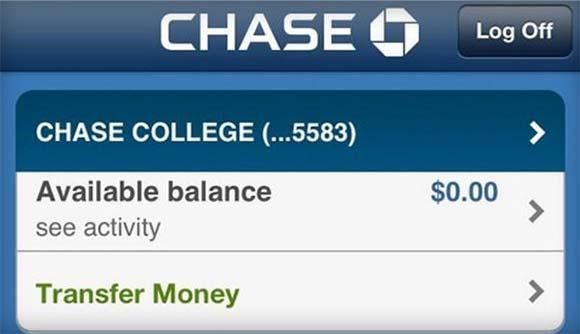 Chase Account Screenshot