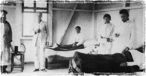 sickbay where patiants with cholera were treated in 1892