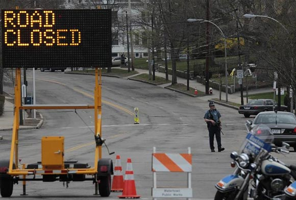 Roads Closed in Boston