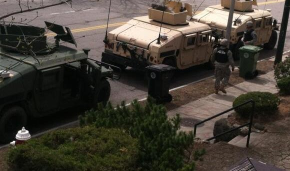 MRAPS in Boston