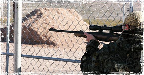 Practicing shooting at the Gun Range