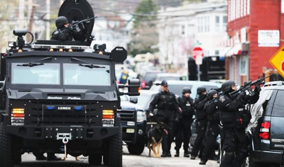 Boston Lockdown Swat Teams