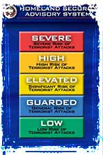DHS Color Coded Threat Level Chart