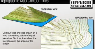 Countor lines on a topogrphic map