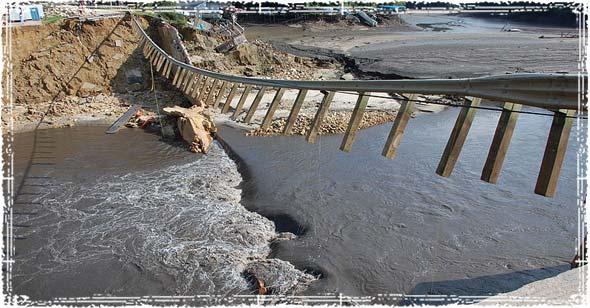 Dam Failure causing flooding