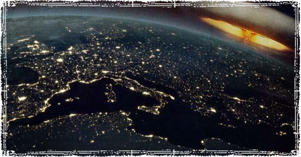 EMP Blast above the Earth