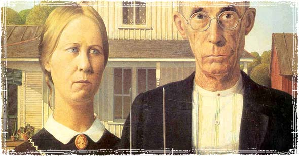 Grant Wood Farmer Painting