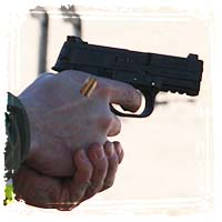 Firing Self-defense Handgun