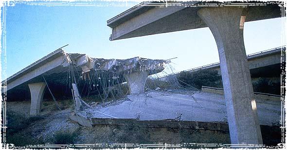 Damaged Interstate Highway