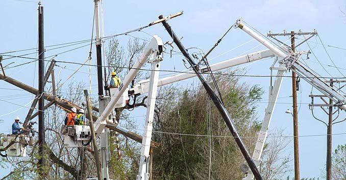 Workers Repairing Powerlines
