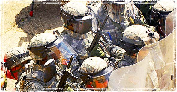 Military in Riot Gear
