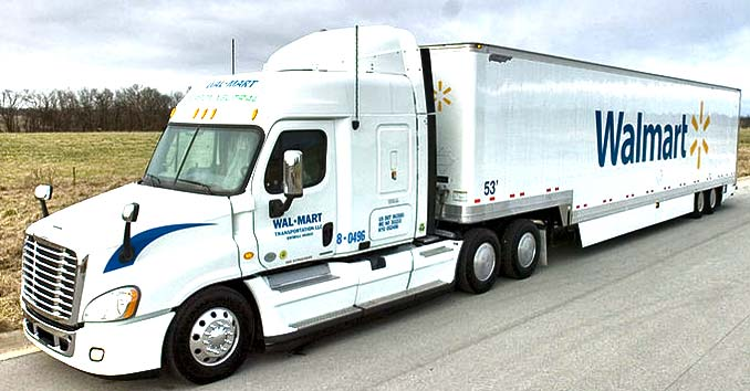 Walmart Truck Delivering Food