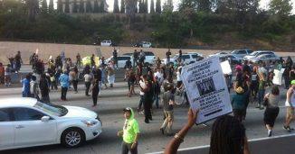 Protestors Block Highway in California