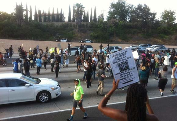Protestors Block Highway in California