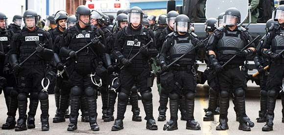 Police in Body Armor