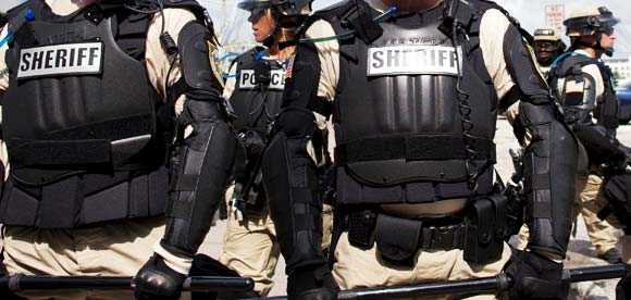 Sherriff's office in Tactical Riot Gear
