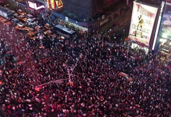 Protestors Time Square