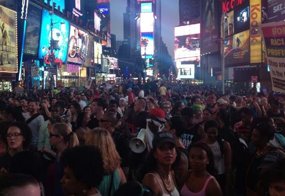 Time Square protest