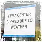 FEMA Closed Sign