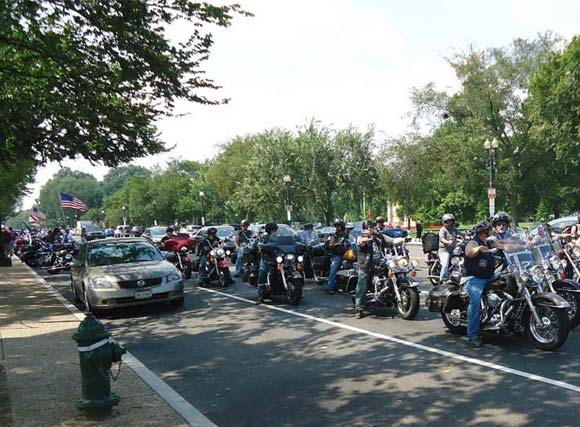 Bikers in D.C. Streets