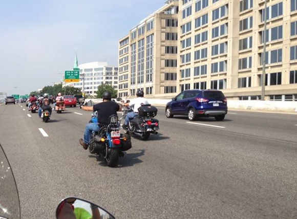 Bikers Heading to Washington D.C. Ride