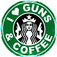 I Love Guns and Coffee Graphic