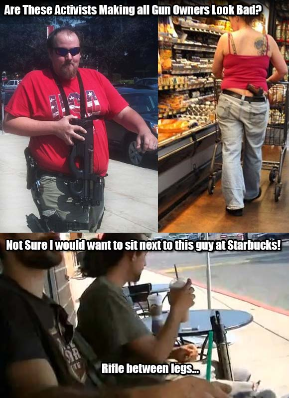 People Open Carrying who don't know how to responsibly handle a gun
