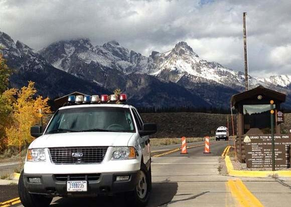 Grand Teton National Park Barricaded