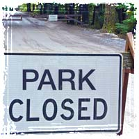 National Park Gates Barricaded