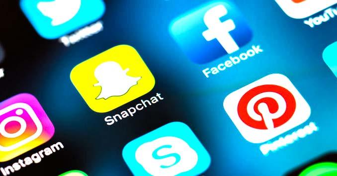 Social Media App Icons on a Phone