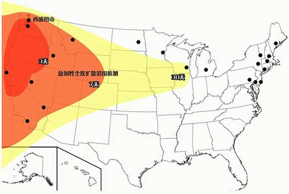 Chinese Nuclear Fallout Projections