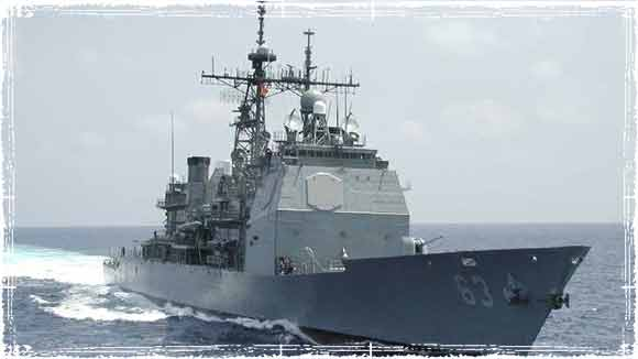 USS Cowpens in International Waters