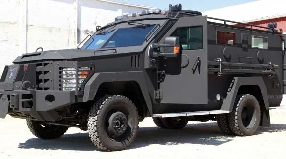 Police armor vehicle