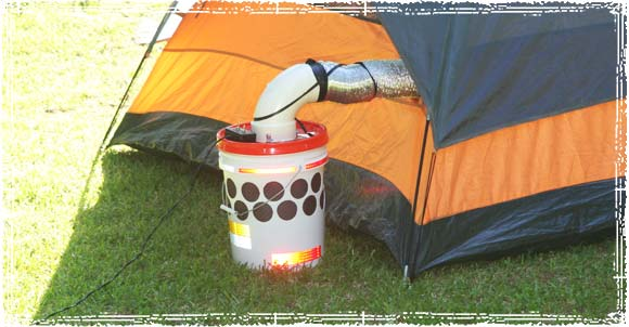 Cooling a Tent with the Homemade Bucket Air Cooler