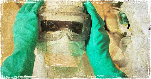 Doctors wearing Medical Masks to protect from Ebola