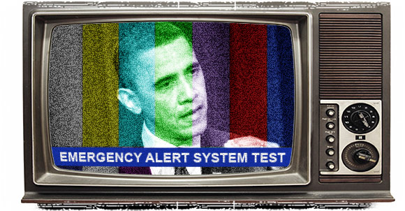 Television screen with EAS alert