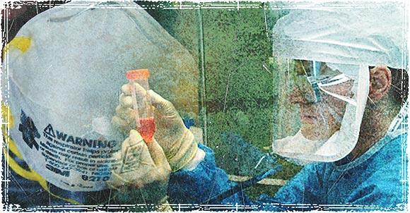 Scientist working with Virus in Lab