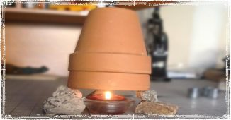 The Single Candle Clay Pot Heater