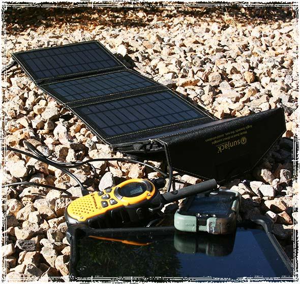 SunJack Solar Panels Charging