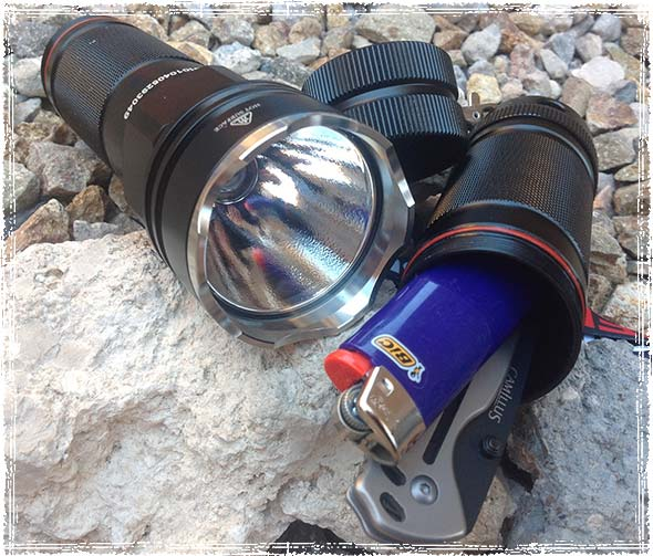 Tactical Flashlight with Survival Gear Inside the Case