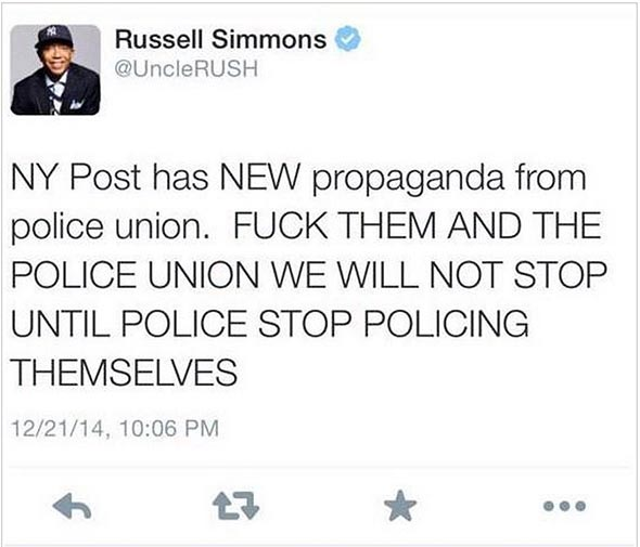 Russell Simmons Deleted Tweet