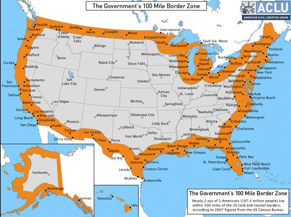 100-MileU.S. Border Zone