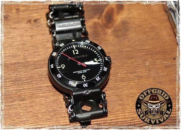 The Leatherman Tread QM1 Multitool Watch