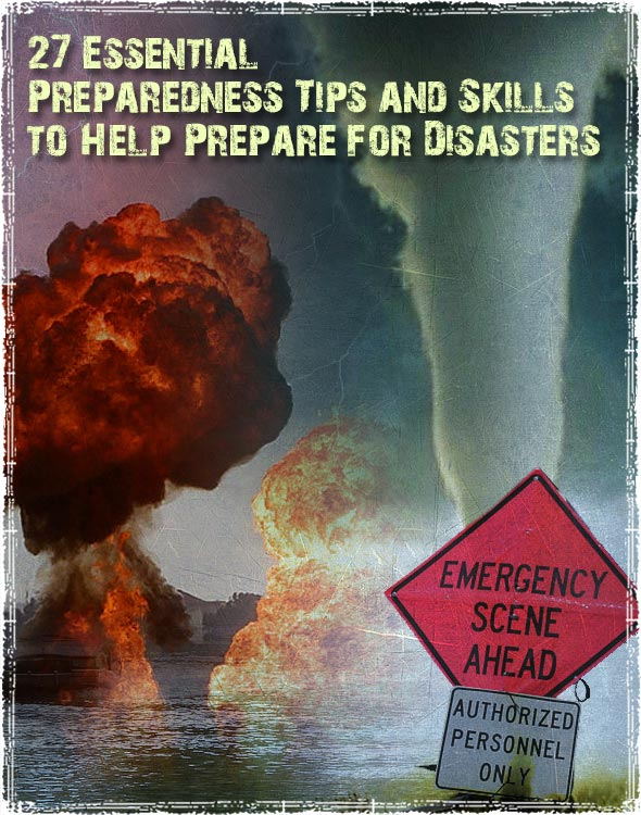 Preparing for Disasters Graphic with various disasters
